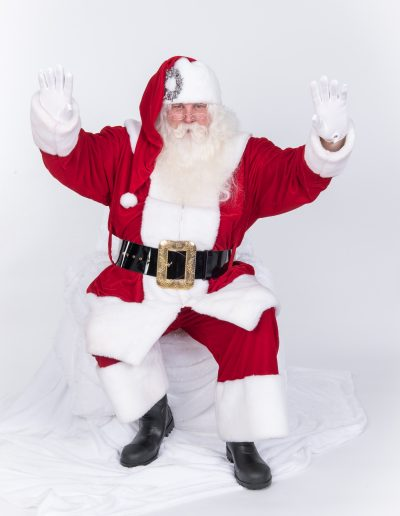 Red and White Beaver fur Santa Suit (5)